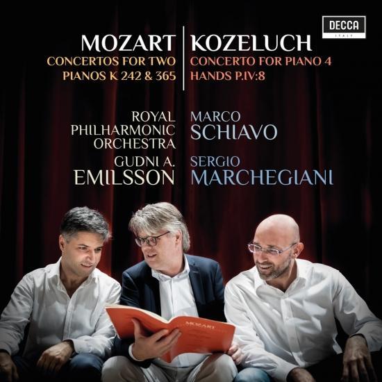 Cover Mozart: Concertos For Two Pianos K 242 & 365; Kozeluch: Four Hands Piano Concerto