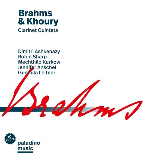 Cover Brahms & Khoury: Clarinet Quintets