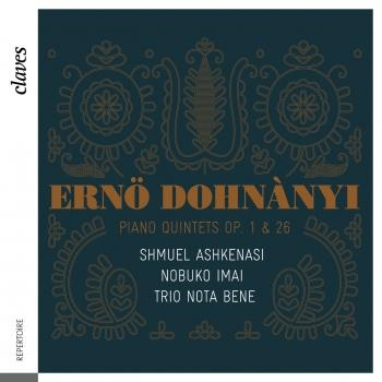 Cover Dohnányi: Piano Quintets Op. 1 & 26