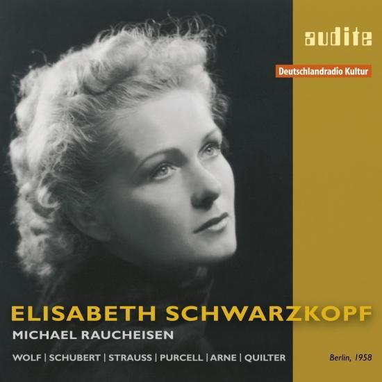 Cover Elisabeth Schwarzkopf sings Lieder by Wolf, Schubert, Strauss, Purcell, Arne & Quilter