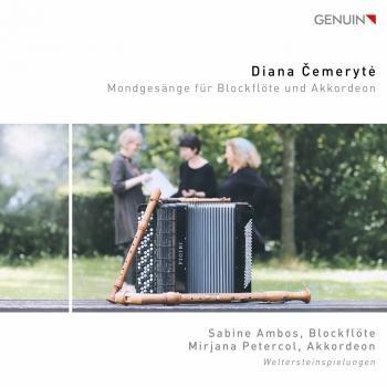 Cover Diana Čemerytė: Mondgesänge für Blockflöte und Akkordeon
