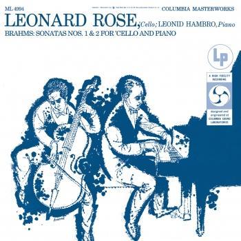 Cover Brahms: Cello Sonata No. 1, Op. 38 & Cello Sonata No. 2, Op. 99 (Remastered)