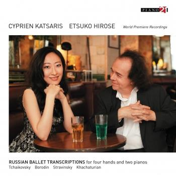 Cover Russian Ballet Transcriptions for Four Hands and Two Pianos (World Premiere Recording)