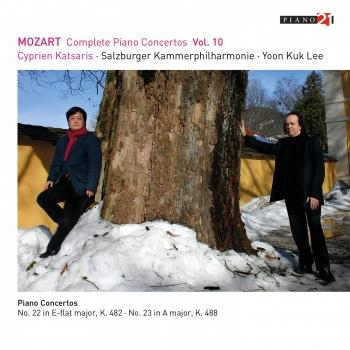 Cover Mozart: Complete Piano Concertos, Vol. 10 (Live - K. 482 & 488) (Live - Cadenza A by Katsaris) (Remastered))