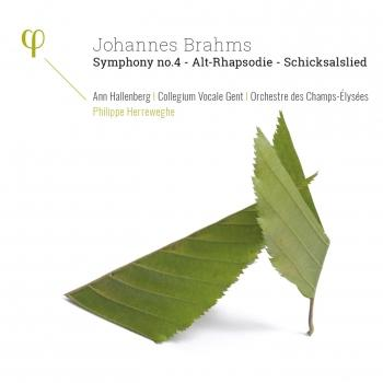 Cover Brahms: Symphony No. 4, Op. 98, Alt-Rhapsodie, Op. 53 & Schicksalslied, Op. 54