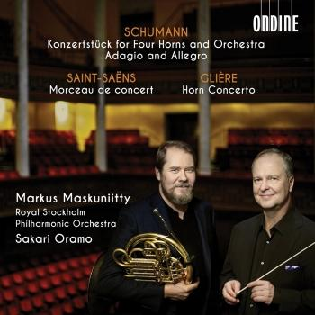 Cover Schumann, Saint-Saëns & Glière: Works for Horn & Orchestra