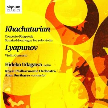 Cover Khachaturian and Lyapunov Works for Violin and Orchestra