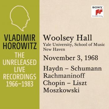 Cover Vladimir Horowitz in Recital at Yale University, New Haven, November 3, 1968