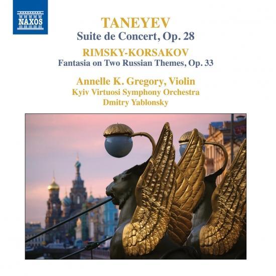Cover Taneyev: Concert Suite, Op. 28 - Rimsky-Korsakov: Concert Fantasia on Russian Themes, Op. 33