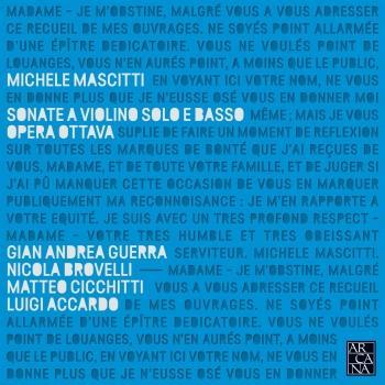 Cover Mascitti: Sonate a violino solo e basso, opera ottava