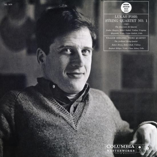 Cover William Bergsma: Third String Quartet No. 1 - Lukas Foss: String Quartet No. 1 (Remastered)