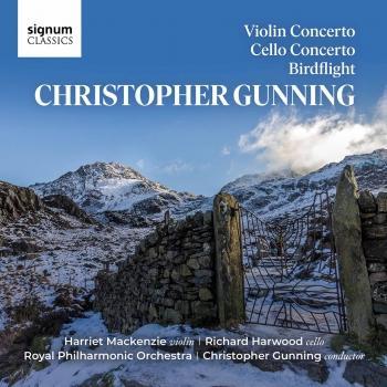 Cover Christopher Gunning: Violin Concerto, Cello Concerto, Birdflight