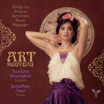 Cover Strauss, Zemlinsky, Ravel & Respighi Art nouveau