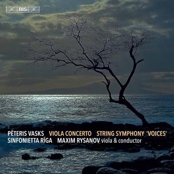 Cover Pēteris Vasks: Viola Concerto & Symphony No. 1 'Voices'
