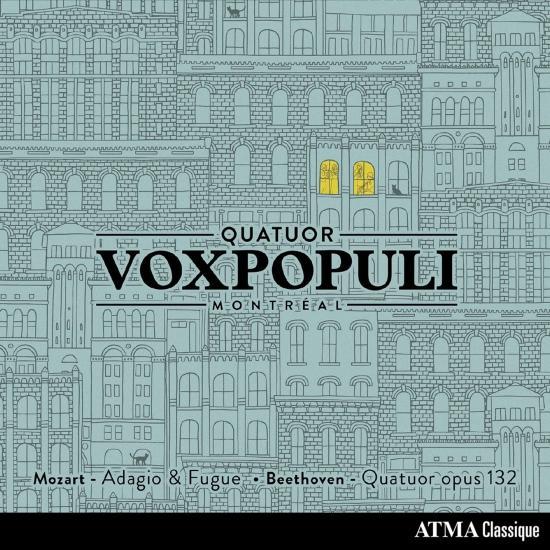 Cover Mozart: Adagio & Fugue in C Minor, K. 546 – Beethoven: String Quartet No. 15 in A Minor, Op. 132