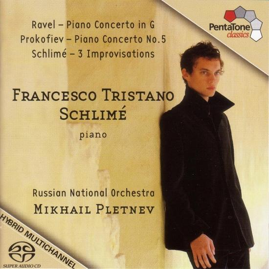 Cover Ravel: Piano Concerto in G Major / Prokofiev: Piano Concerto No. 5 / Schlime: 3 Improvisations