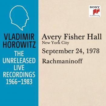 Cover Vladimir Horowitz in Recital at Avery Fischer Hall, New York City, September 24, 1978