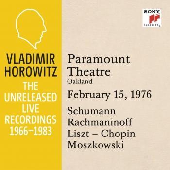 Cover Vladimir Horowitz in Recital at Paramount Theatre, Oakland, February 15, 1976