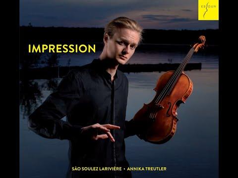 Video Sào Soulez Larivière: Debüt-Album 'Impression'