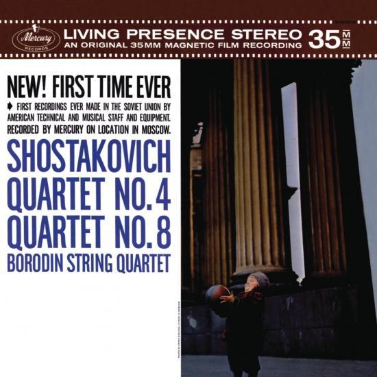 Cover Shostakovich: String Quartets No. 4 op. 83 and No. 8 op. 110